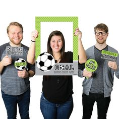 - Soccer - Personalized Birthday Party or Baby Shower Selfie Photo Booth Picture Frame & Props - Printed on Sturdy Material Photo Both Props, Photo Booth Picture Frames, Soccer Birthday Parties, Soccer Party, Soccer Banquet, Baby Birthday, Birthday Ideas, Baby Shower Photo Booth, Boy Baby Shower Themes