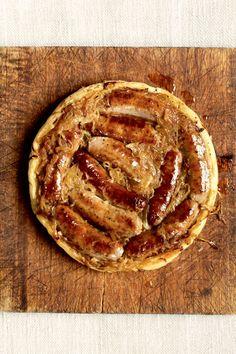 Upside Down Sausage and Onion Pie...Nigella Lawson
