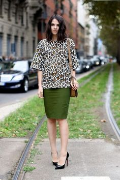 leopard + green. always a fave.