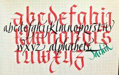 #calligraphy #italic #fraktur - Sachinmshah
