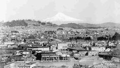 The town of East Portland was a growing concern by 1898.      By the end of the 19th Century, Portland had 90,000 residents and it was the largest metropolis in the Northwest. Portland had the busiest port up the coast from San Francisco.