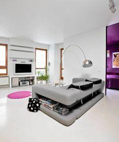 Miejsce na telewizor - salony ciekawie urządzone - Porady eksperta - Pokój - Mieszkanie - Urządzanie mieszkania - Urządzanie domu - Wnętrza - Wyposażanie mieszkania