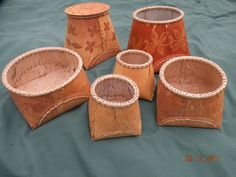 birch bark basket template - Google Search