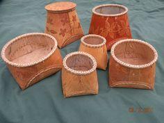 birch bark basket template - Google Search