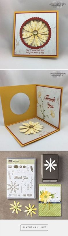 DAISY DELIGHT POP-UP CARD. Mary Deatherage: Stamps – n - Lingers - Stampin' Up! Daisy Delight Corner Pop-Up Card – and Blog Candy! - 7/24/17. (Pin#1: Folds... Pin+: Peek-A-Boo).
