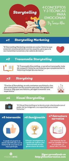 Storytelling: 4 términos y 3 técnicas para emocionar #infografia