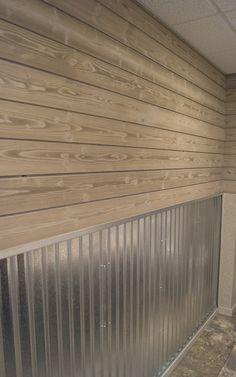 Rough Rider, Eternity Enhanced Granite Grey with Whitewash Finish, Reveal 2 Silo House, Up House, Corrugated Tin, Metal Siding, Garage Walls, Garage Interior, Barn Wood, Barn Tin Wall, Garage Makeover