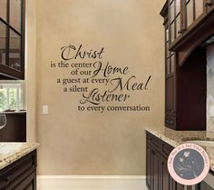 Wall Decal for the Home  Christ is the by FourPeasinaPodVinyl, $13.00