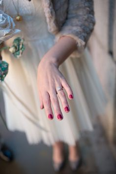 Wedding Engagement Ring Red Nails Bride http://fayecornhillphotography.com/