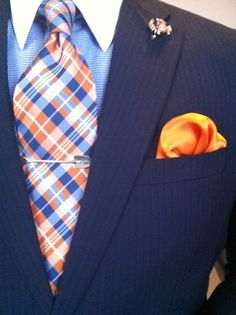 Nice orange and blue combo