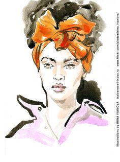 https://flic.kr/p/URkxa7 | img370 | Undercover SS2017 ready-to-wear collection.  #fashionillustration #SS2017 #readytowear #runway #Undercover #JunTakahashi #illustration #fashion #model #portrait #drawing #female #watercolor #ink #fashionshow #wear #clothes #fashionillustrator #иллюстрация #одежда #портрет #irinakamantseva #мода #artwork #artinsta #instaart #fashioninsta