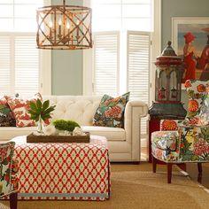 A Cinderella crib. Love the color and texture mix. via @Indias-World!!! passiondecor-de-marieclaude:  #orange⭐#interiors