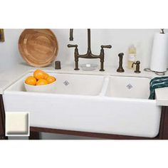 Rohl, RC4019, Double Bowl Sinks, Rohl Rc4019 40 Handcrafted 65 35 Double Basin Fireclay Apron Front Farmhouse Kitchen Sink From The Shaws Original Se