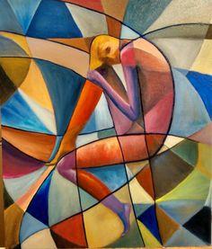 Divagaciones entre el color y la forma - Cesar Tillard - Oleo sobre tela