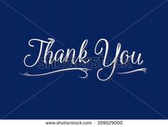 Vector 'Thank You' lettering on striped background - includes blends and gradients.