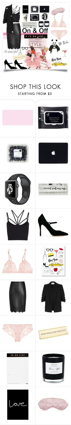 """Darling working days"" by ane-56 on Polyvore featuring e.l.f., NIKE, Sweaty Betty, Tabitha Simmons, La Perla, River Island, He Said, She Said, kikki.K, D.L. & Co. and Native State"