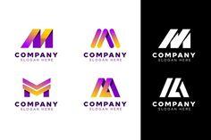 Vector Premium | Logotipo de la letra m Logo Design Template, Logo Templates, Logo Abstrait, Logo Smart, Money Logo, Letter M Logo, Elegant Business Cards, Banners, Logo Inspiration
