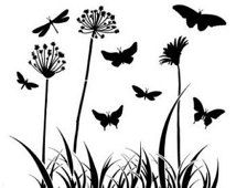 Mini Butterfly Meadow 6x6 Crafters Workshop Stencil (197S) - for cookies, cakes, cardmaking, mixed media, face painting, chalking, scrapbook
