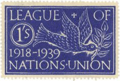 League of Nations Twentieth Anniversary British Poster Stamp Association. 1939. Design by Eric Gill
