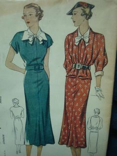 1930s Flared Dress & Jacket Simplicity 2023 Uncut FF by kinseysue