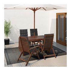 ÄPPLARÖ Tisch+4 Hochlehner/außen - Äpplarö braun las./Hållö schwarz - IKEA