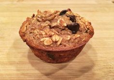 Banana Oatmeal Dark Chocolate Chip Protein Muffins
