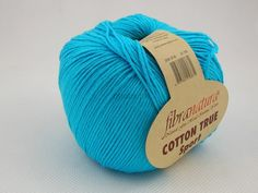 Włóczka Cotton Tru Sport kolor turkusowy nr 107-08 Pasmanteria U Gaby
