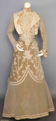Velvet & Wool Afternoon Gown, C. 1902, Augusta Auctions, November 12, 2014