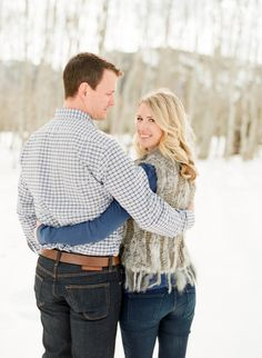 New Years Aspen Engagement Session Country Engagement, Winter Engagement, Engagement Couple, Engagement Pictures, Engagement Session, Engagement Ideas, Engagements, Couple Photography Poses, Engagement Photography