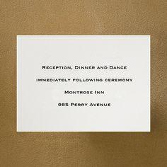 Royal Ecru Folder - Reception Card weddingneeds.carlsoncraft.com