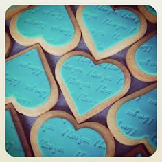 """Tiffany & Co. Cookies stamped with """"I love you"""" just like their charm"""
