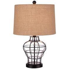 "Croyton 22"" High Clear Blown Glass Table Lamp $59.99"