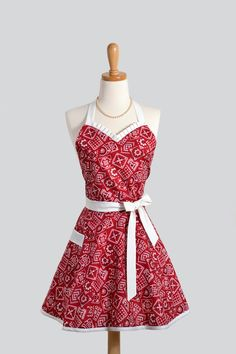 Sweetheart Apron - Red Bandanna
