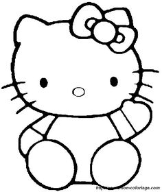 Free Printable Hello Kitty Coloring Pages For Kids | Free printable ...