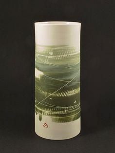 Junction Art Gallery - Ali Tomlin Medium Cylinder Vase Lisa Hammond, Cylinder Vase, Shot Glass, Ali, Art Gallery, Ceramics, Medium, Winter, Artist