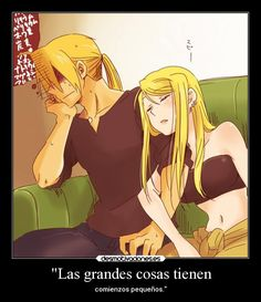 Fullmetal Alchemist Edward Elric and Winry Rockbell Full Metal Alchemist, Der Alchemist, Edward Elric, Otaku Anime, Manga Anime, Fullmetal Alchemist Brotherhood, Ed And Winry, Cute Anime Couples, Anime Ships