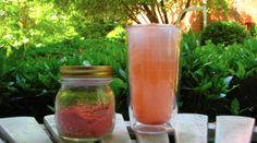 Water flavoring using freeze dried fruit, salt, and sugar.