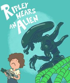 Ripley Hears an Alien Aliens Funny, Aliens Movie, Alien Ripley, Giger Alien, Alien Vs Predator, Predator Art, Horror Icons, Alien Art, Creature Feature