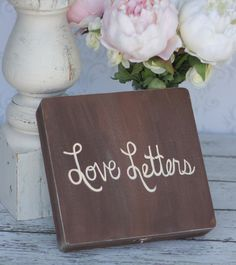Love Letters Box Rustic Wedding Decor (item P10366). $39.99, via Etsy.