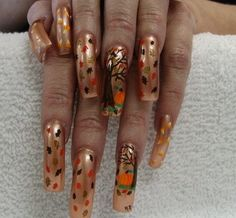 crazy thanksgiving nail art check out www.MyNailPolishObsession.com for more nail art ideas.
