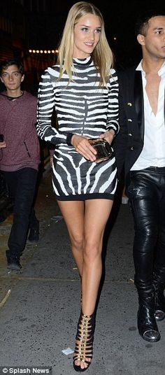 9971da844c Animal  Rosie Huntington-Whiteley is seen arriving at Rihanna s Met Gala  afterparty in a