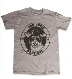 Bad Sheep Boutique Logo T-Shirt - Grey. Only £10 http://www.badsheepboutique.com/bad-sheep-boutique-logo-t-shirt---grey-441-p.asp