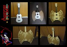 Adventure Time- Marceline's bass ukulele- WIP by on DeviantArt Cheap Halloween Costumes, Halloween And More, Halloween Cosplay, Diy Costumes, Halloween Diy, Cosplay Costumes, Adventure Time Cosplay, Adventure Time Marceline, Marceline Costume