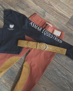 Rust Tailored Sportsmans are just  paired with a patch matching TS suede belt and @asmarequestrian Long Sleeve UPF 50 tee ✨