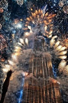 Dubai. Burj Khalifa fireworks. Now that would be cool to see