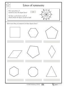 Lines of symmetry, polygons - Worksheets & Activities