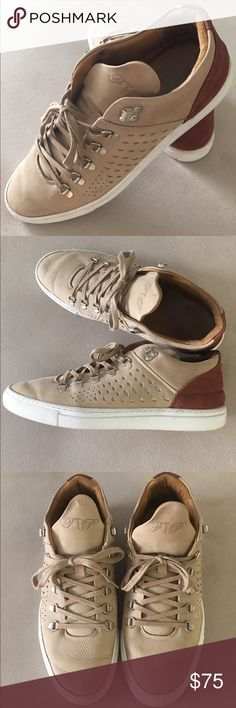 FILLING PIECES Mountain Cut Low Lightly Used Filling Pieces Tan Mountain Cut Filling Pieces Shoes Sneakers