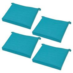Belvedere 4pk Side Dining Chair Cushions Turquoise - Threshold, Turquioise