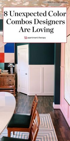 Go bold and try one of these 8 unexpected color combinations interior designers are loving right now. #colorpalette #colorcombinations #interiordesign #designtrends #colorpaletteideas #livingroomcolors #livingroomideas #paintcolors #2020trends #colorcombos