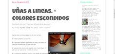 3# entrada en el blog.  Uñas a lineas - Colores escondidos